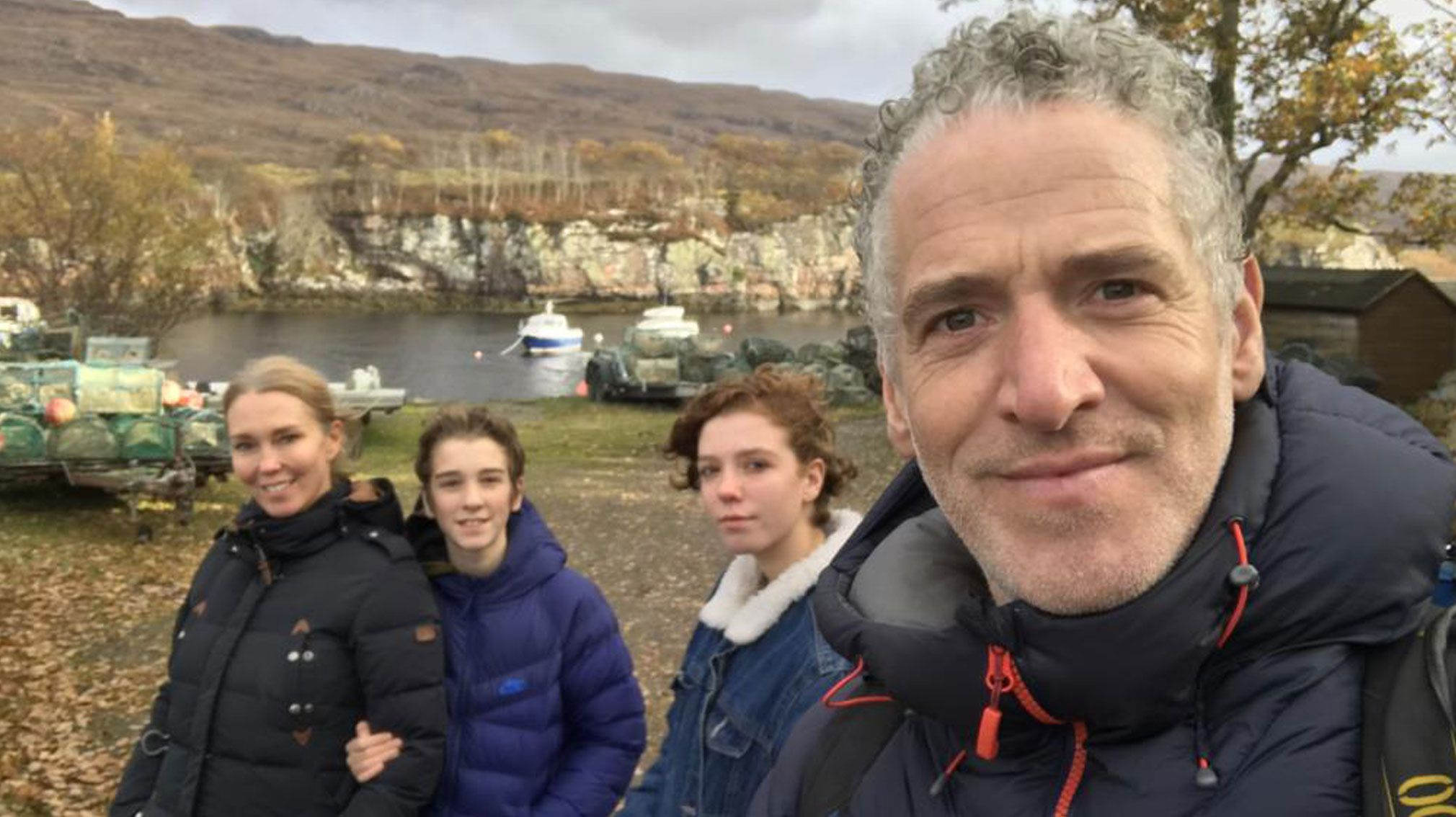 Gordon Buchanan with his family