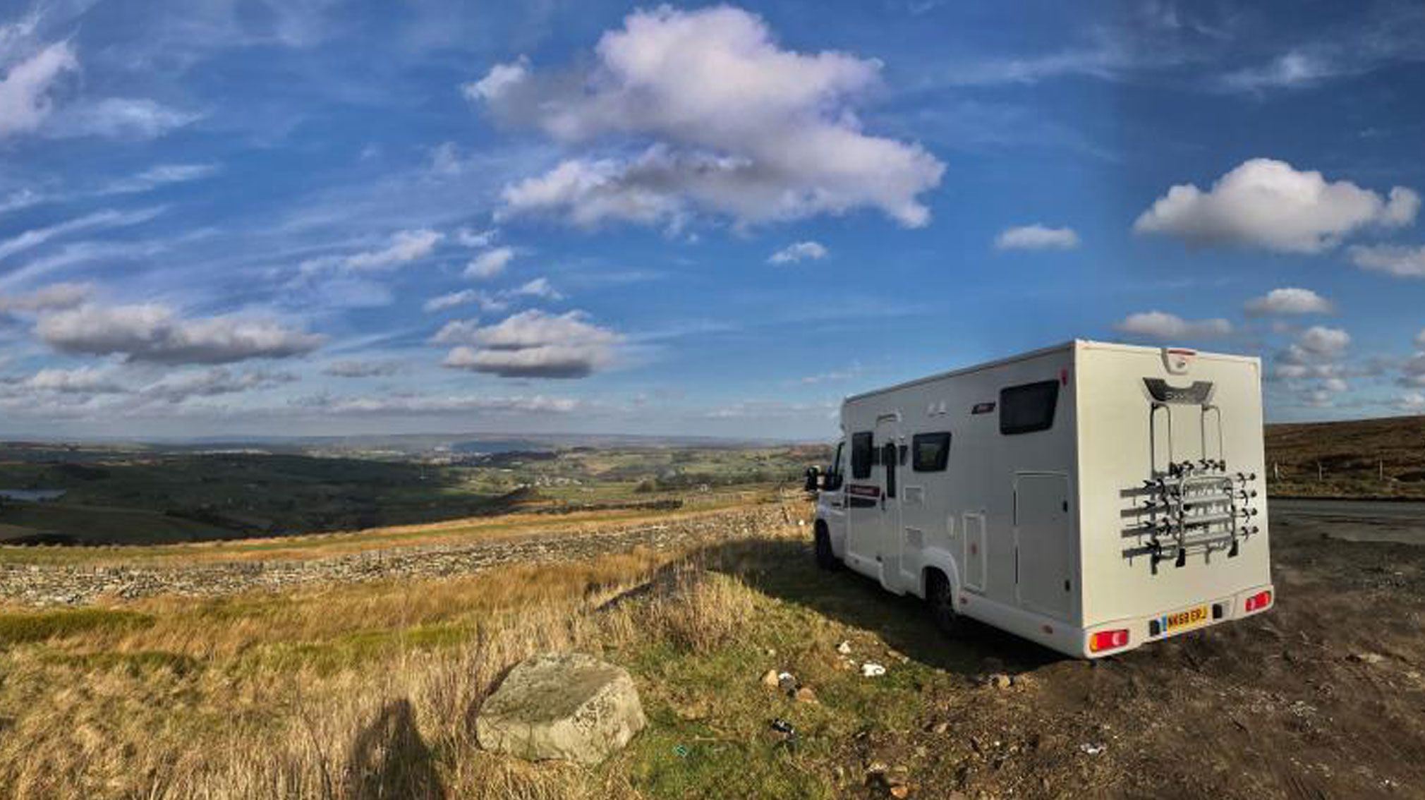 Elddis Autoquest with the Haworth countryside