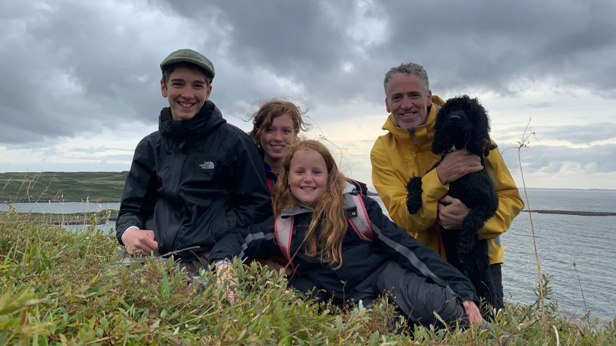 Gordon Buchanan and his family
