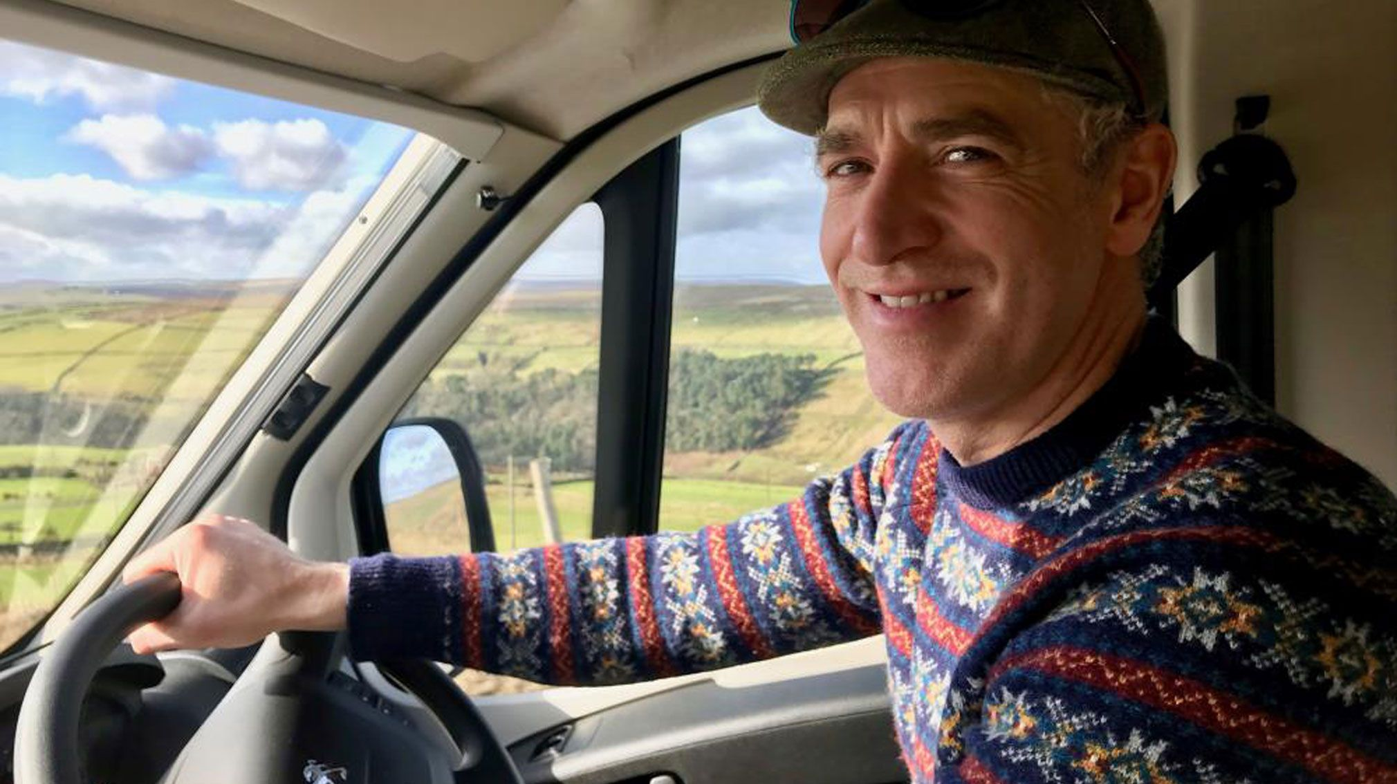 Gordon Buchanan Driving His Elddis Autoquest