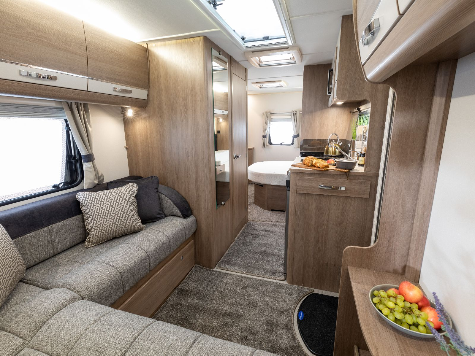 Kensington Caravan L Shaped Lounge Area'