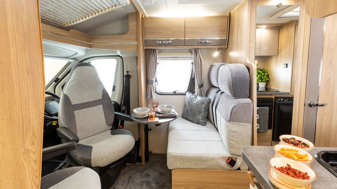 Elddis Motorhomes and Campervans driving and dining layout