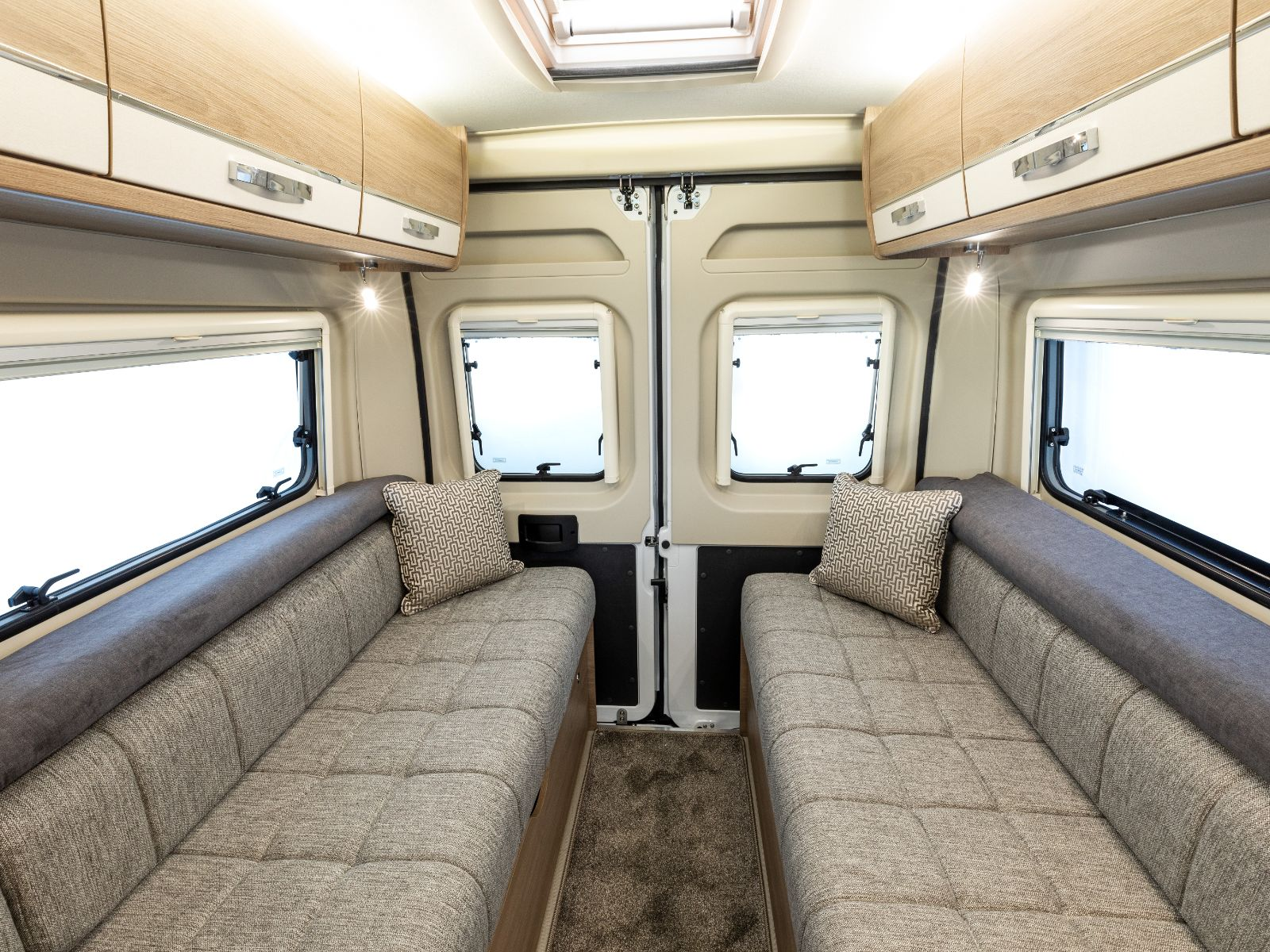 Kensington Campervan Lounge Area With Two Sofas'