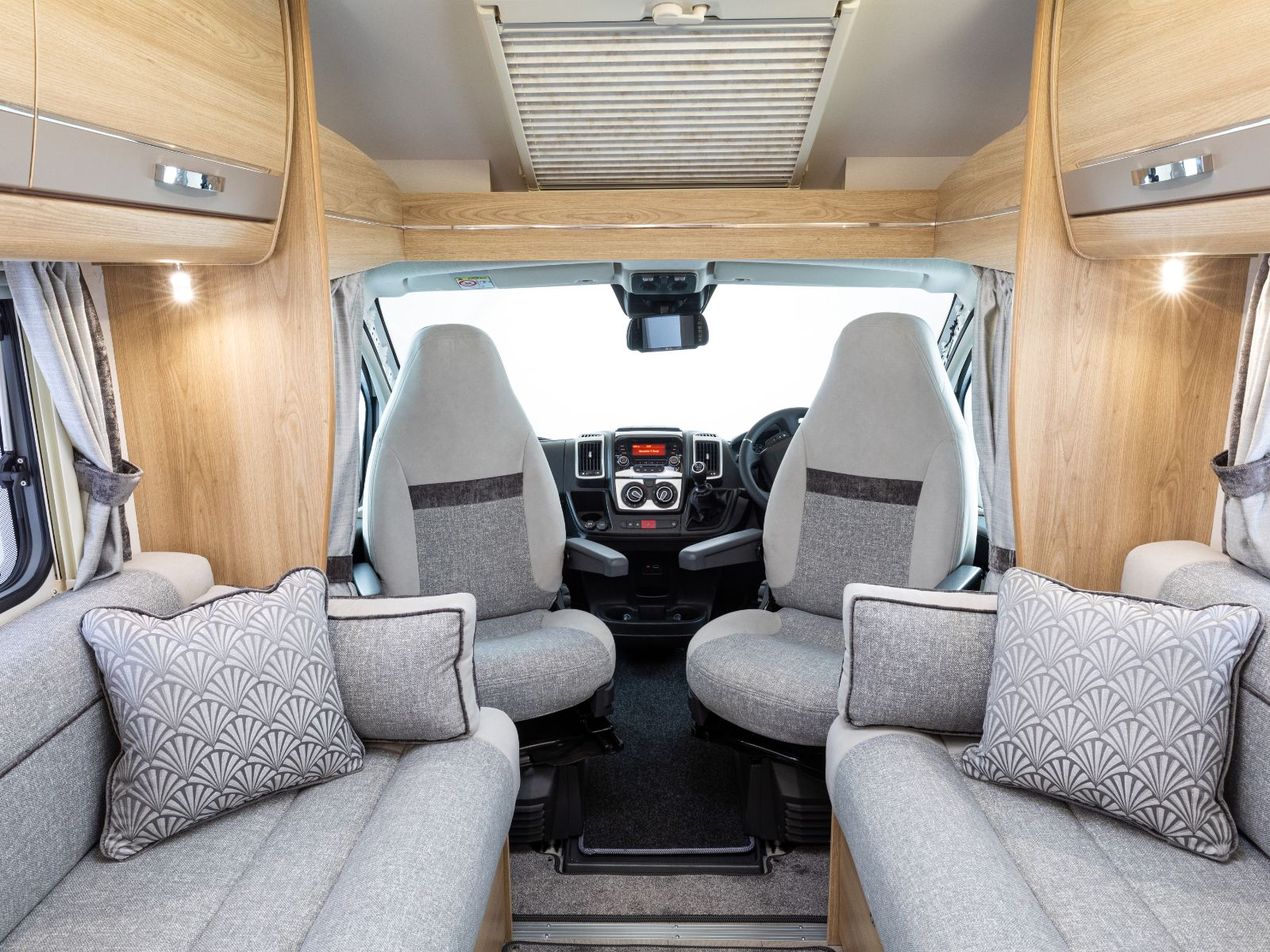 Impressa Motorhomes Lounge and Driving Layout'