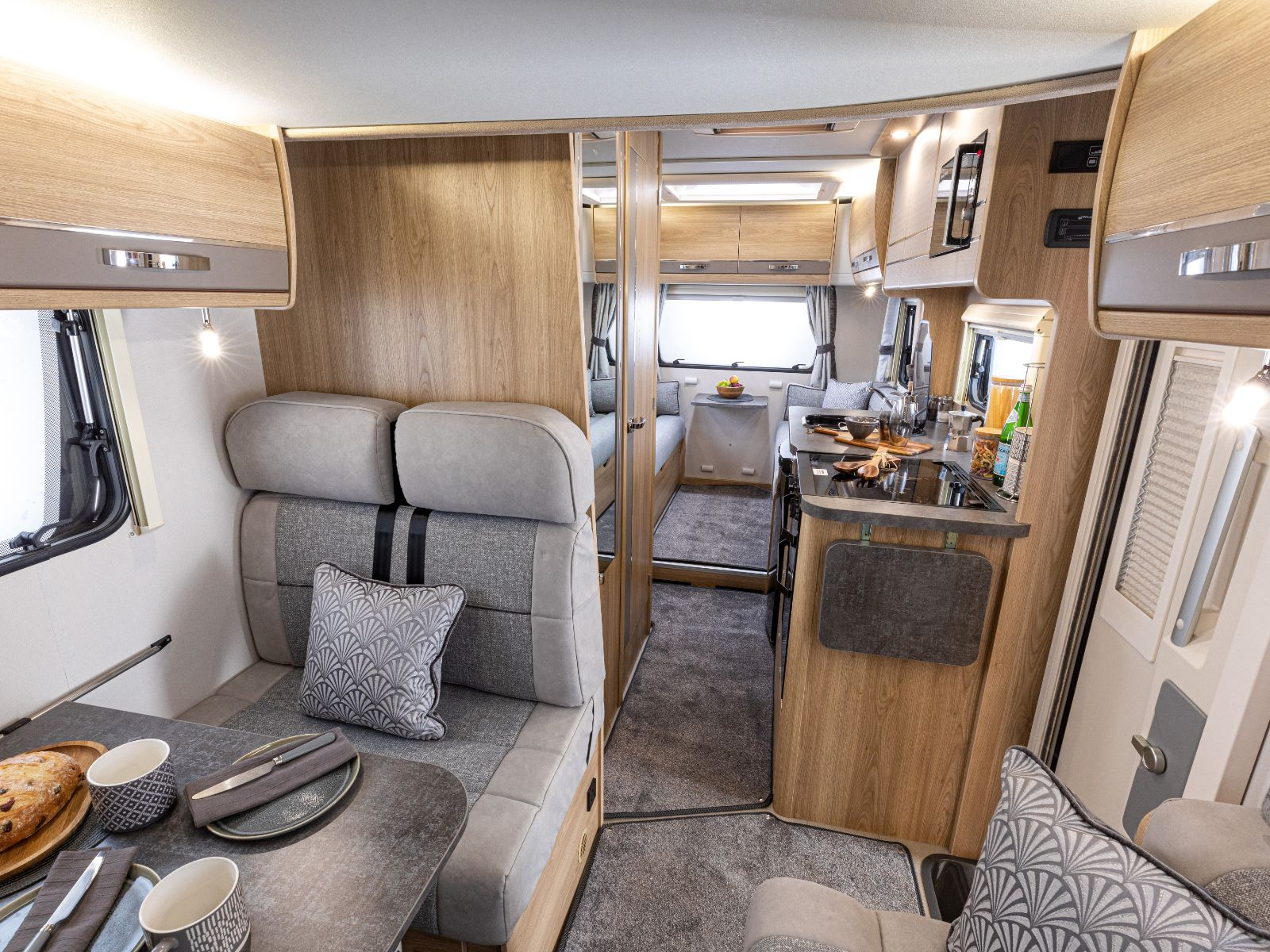 Impressa Motorhome Dining Area With Kitchen View'