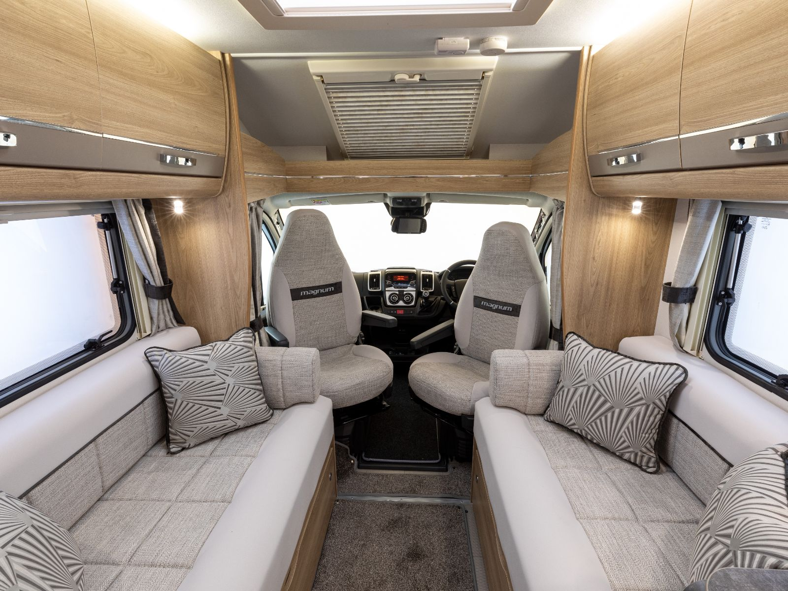 Magnum GT Motorhome Lounge and Driving Layout'