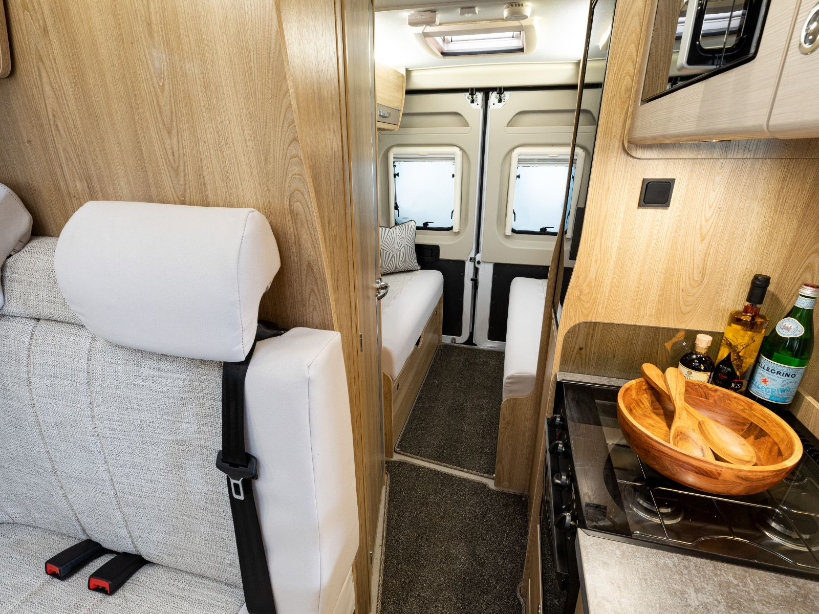 Magnum GTV Campervan Kitchen Area with View of Lounge'