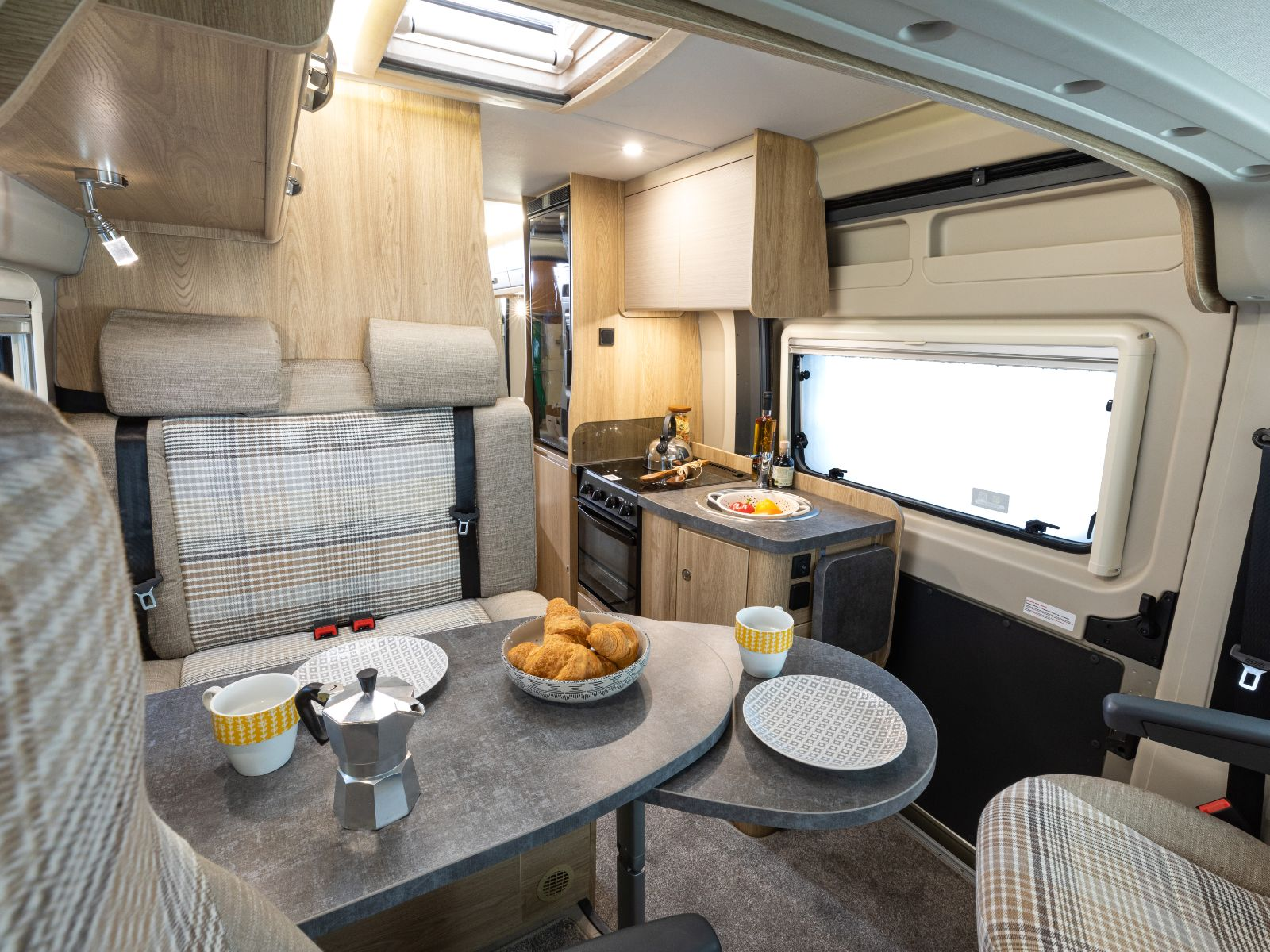 Master Collection Campervan Dining and Kitchen Area'
