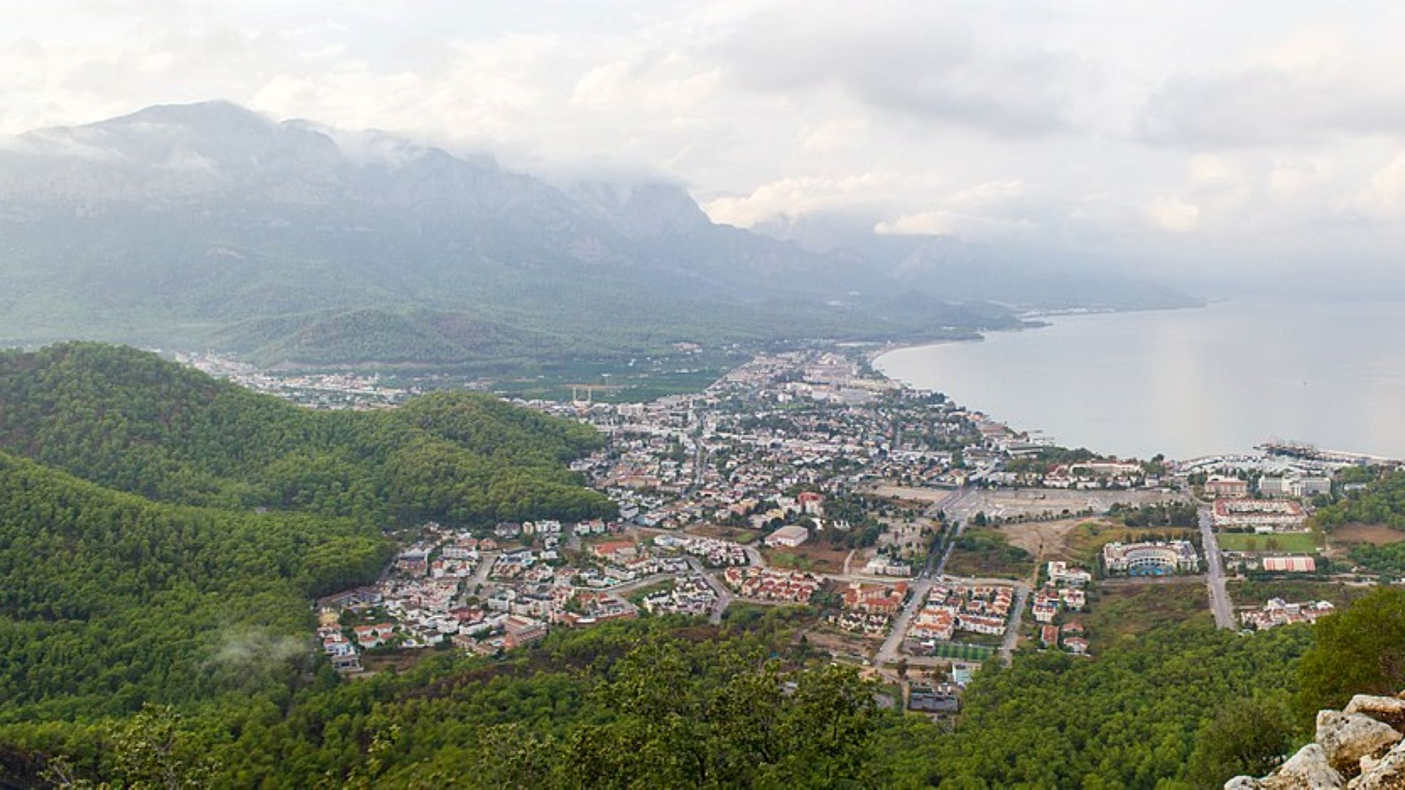 Aerial view of Kemer, Turkey
