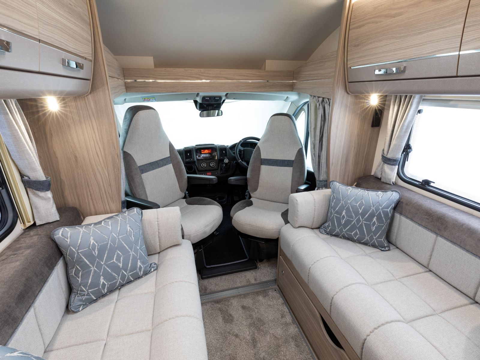 Front lounge with ActivCare Upholstery and view of drivers cabs'