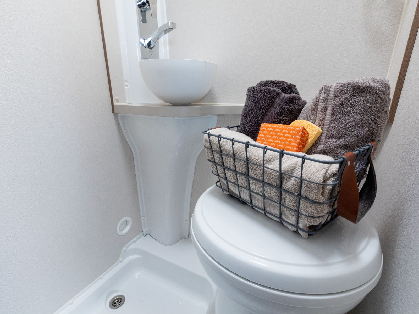 Bathroom with toilet and sink '