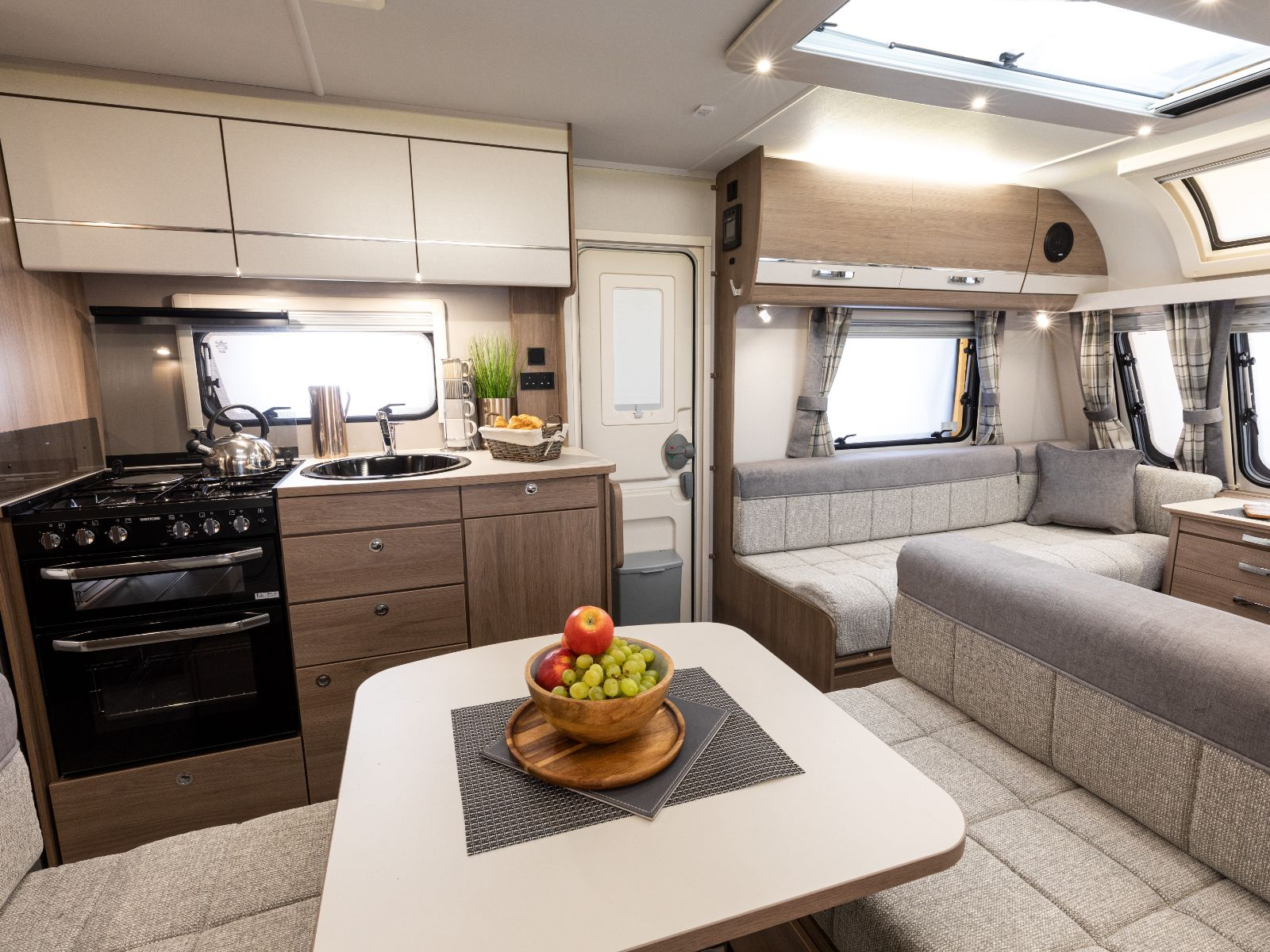 Connoisseur Caravan Side dinette looking on to lounge and kitchen '