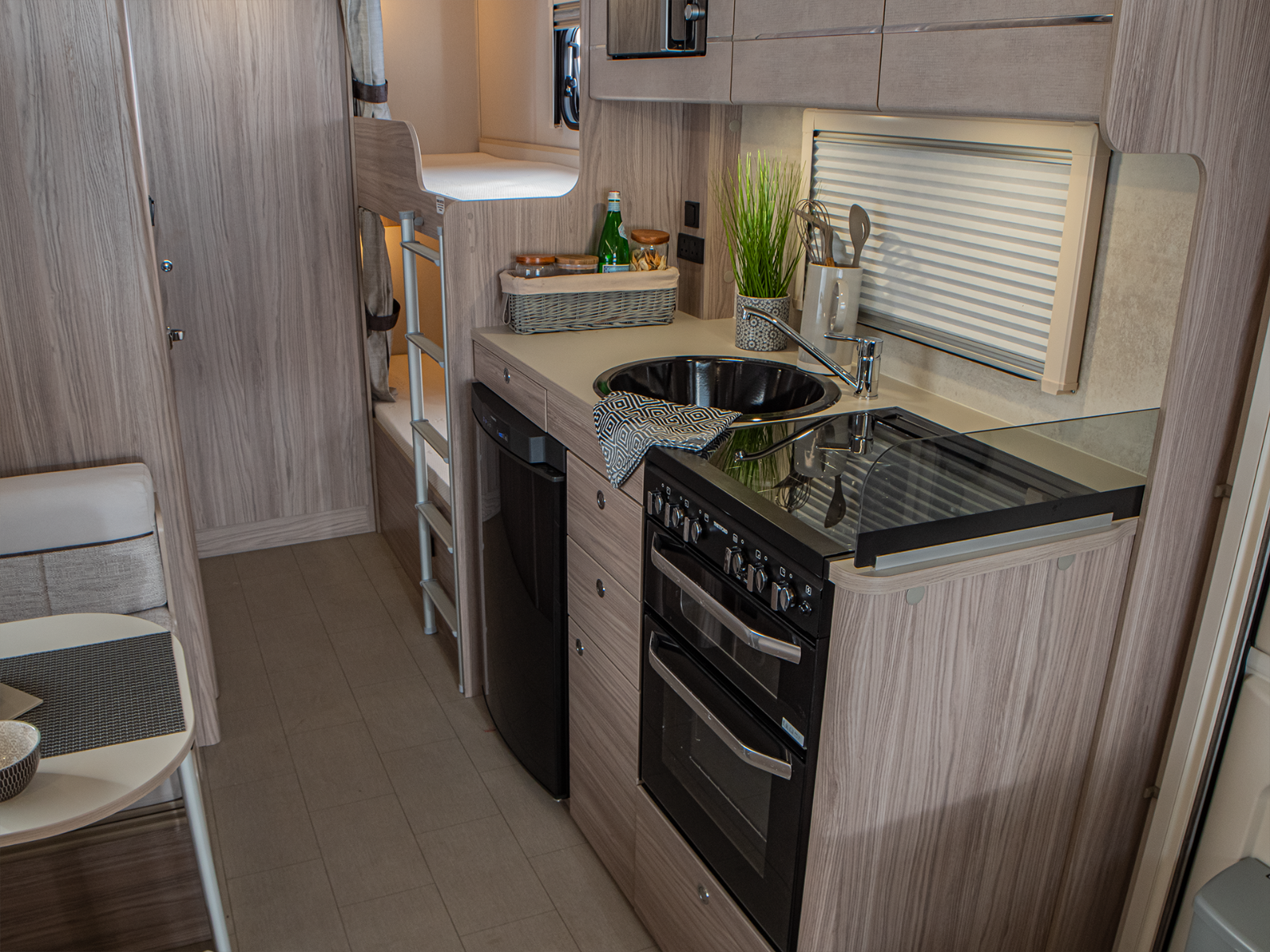 Magnum GT Caravan Kitchen with oven and fridge freezer'